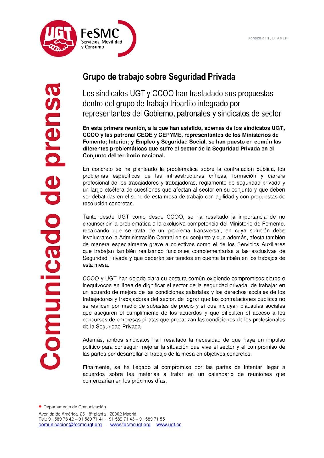 [1]Comunicado prensa Grupo Trabajo Seguridad Privada
